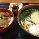 あわじ屋 - 本日のうどん定食500円