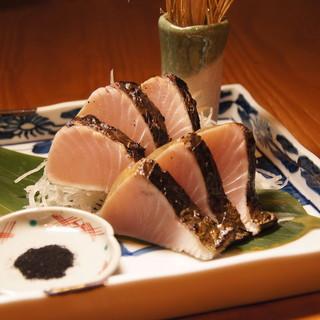 名物の『宮崎地鶏のわら焼き』