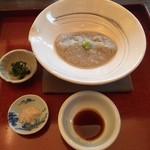 秋谷亭あらき - 料理写真:粗挽きそばがき