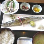 佐島かねき - 秋刀魚定食