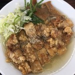 58296475 - 唐揚げ素湯麺(2016.11再訪)
