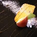 ループ カフェ - デザート(カボチャのケーキ)