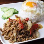 タイ居酒屋 藤田 - 料理写真:ガパオライス 鶏肉のバジル炒めごはん
