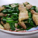 二軒目飯店 - 料理写真:ニラ肉炒め