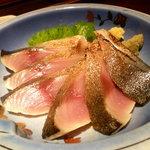 笑庵 - トロ〆サバ炙り刺✿680円