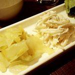 Sumiyakiandowainrizaburou - 野菜の前菜2種とミニサラダ