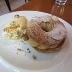 カフェ・オハナ - ケーキセット 1200円 パリブレスト