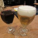 エル・チャテオ - ノンアルコール赤ワイン 432円 & 生ビール 626円
