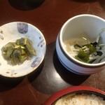 しま田 - 酢の物と漬物