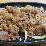 平壌冷麺食道園 - 201611 「うすぎり牛カルビランチ」(980円)