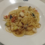 Trattoria Del Cielo - 魚と茄子のオイルソース和えスパゲッティ