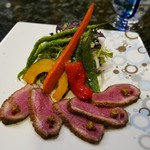 味処てらさき - 鴨ロース定温仕立てと彩り野菜サラダ