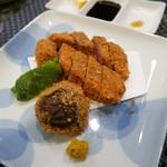 味処てらさき - 米沢牛カツ(ヒウチ)