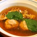 秋田比内地鶏や - 極め膳(比内地鶏つみれ汁)
