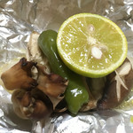 鴨とり権兵衛 - 白身魚と茸のホイル焼き