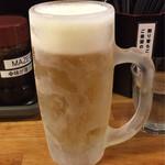 麺屋ガテン - 生ビール♪