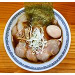 らーめん らいふ - 料理写真:「肉そば(あっさり+味玉)」(2016.10)