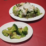 パパミラノ - サラダとブロッコリー