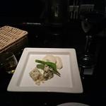 ランプ - ブルーチーズと、羊のチーズ、赤ワイン。