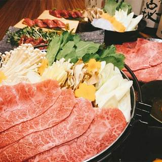 【冬季限定】黒毛和牛すき焼きコース