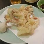 海中魚処 萬坊 - 残った下足とえんぺらを天ぷらにして頂けるコースです