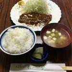 れんが亭 - ロースオイル焼定食 1100円