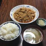 れんが亭 - キムチやき肉定食(肉増し)950円