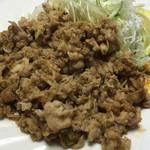 れんが亭 - 豚コマ肉のやき肉