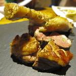 トラットリア ソメヤ - フランス産鴨胸肉のローストと骨付鴨もも肉のコンフィ