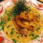 五右衛門 - 料理写真:白神あわび茸ステーキと炙り帆立のペペロンチーノ