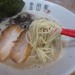 金田家 - 細のストレート麺