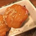 ちぃりんご - 「いちじくとベーコンの玉味噌焼」480円