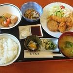 こびり庵 - 料理写真:ミックスフライ定食