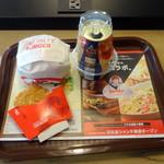 ファーストキッチン・ウェンディーズ - モーニングBLTエッグサンド320円、プレモル390円、ハッシュブラウンポテト140円