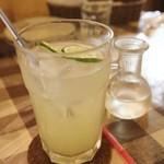 クワモンペ - 酢橘スカッシュ 別添えシロップ