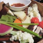東洋食堂 百 - 色々野菜のせいろ蒸し。 まさに、韓国のバーニャカウダ。