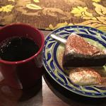 汐汲坂ガーデン - ガトーショコラクラシックとブレンドコーヒーのセット 1,030円