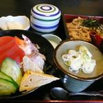 幸世庵 - 海鮮丼とそばのセット