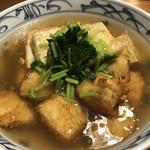 しぐれ茶屋 侘助 - すずきと豆腐の揚げ餡掛け