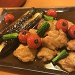 しぐれ茶屋 侘助 - 地鶏と長茄子の照り焼き