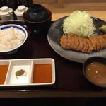 牛カツ専門店 京都勝牛 - 牛かつ御膳です。