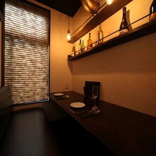 【2名様用個室】プライベート空間をお楽しみください。