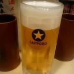 うなぎ ささき - 生ビール