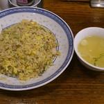 58337480 - 揚州炒飯(スープ付き)です。(2016年11月)