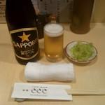 うなぎ ささき - 瓶ビール:550円