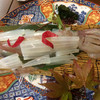 萩八景 雁嶋別荘 - 料理写真:活剣先イカの姿造り