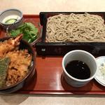 そば処 竹前 - 料理写真:ミニ天丼セット