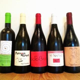 自然派ワインを種類豊富にグラスでもお楽しみいただけます。