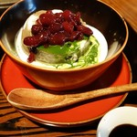 四季折々 - 黒豆抹茶のブラマンジェ