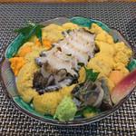 ぼてじゅう -  [b:spécialité] の海胆あわび丼